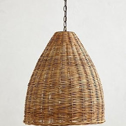 Anthropologie - Basket-Weave Pendant Lamp - *Hardwired for professional installation