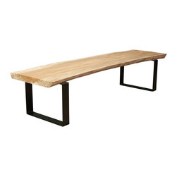 elpis&wood - Big Spalted Oak Bench - Seattle Reclaimed Wood Furniture