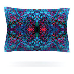 """Kess InHouse - Nikposium """"Boysenberry"""" Blue Purple Pillow Sham (Cotton, 30"""" x 20"""") - Pairing your already chic duvet cover with playful pillow shams is the perfect way to tie your bedroom together. There are endless possibilities to feed your artistic palette with these imaginative pillow shams. It will looks so elegant you won't want ruin the masterpiece you have created when you go to bed. Not only are these pillow shams nice to look at they are also made from a high quality cotton blend. They are so soft that they will elevate your sleep up to level that is beyond Cloud 9. We always print our goods with the highest quality printing process in order to maintain the integrity of the art that you are adeptly displaying. This means that you won't have to worry about your art fading or your sham loosing it's freshness."""