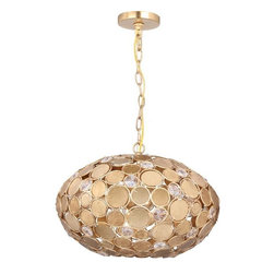 Crystorama Lighting Group - Bella Antique Gold Pendant - This beautiful Crystorama Bella 4 Light pendant is featured in an Antique Gold finish.