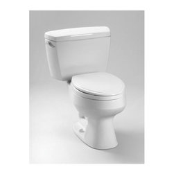 Toto - Carusoe Elongated Toilet (Colonial White) - Color: Colonial White. Transitional style. Round front bowl and tank with less seat. Gravity fed flushing system toilet shall be 1.6 Gpf/6.0Lpf. Powerful and quiet flush. Wide, computer designed fully glazed trapway. Large water surface. Chrome trip lever. Meets and exceeds ASME A112.19.2/CSA B45.1 standards. IAPMO(cUPC), State of Massachusetts , City of Los Angeles and others certifications. UPC, IPC, NSPC, NPC Canada and others code compliances. Made from vitreous china. Minimum water pressure: 8 psi (static). Water surface: 8 in. L x 9.5 in. W. Trap: 1.88 in. Dia.. Trap Seal: 2 in.. Rough-in: 12 in.. Installation and Owners Manual. Parts Manual