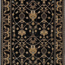 Karastan - Karastan English Manor 2120-00514 William Morris Black Rug - You don't have to leave home to bring the English countryside into your space. This bold area rug is the perfect combination of country chic and contemporary sophistication. The garden motif gives your room a vintage feel, while the dark hues add drama and elegance.