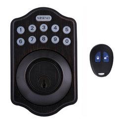 Miseno - Miseno MHDWMKPD-AB Keypad Deadbolt Set w/LED Button Pad & Remote - Aged Bronze - Keyless Entry Deadbolt Includes: