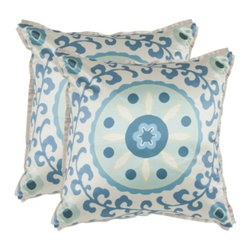 Safavieh - Frida Accent Pillow - Blue - Frida Accent Pillow - Blue