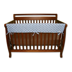 Trend Lab - Trend Lab Rail Cover - Long Max Dot - 109084 - Shop for Crib Bumper Pads from Hayneedle.com! Add the Trend Lab Rail Cover - Long Max Dot to your baby boy's crib to protect your investment and your baby. A safer alternative to crib bumpers this one-piece cover is designed to wrap around the top rail of your crib where it can safely add color and style to your nursery. Made with 100% polyester percale fabric this machine-washable cover is lightly padded and features a cool polka dot pattern in blue and brown. Waterproof mattress pad layers on the underside prevents spit up and drool from soaking through to the rail while the durable yet soft fabric top protects the rail from teeth marks. It also adds a bit of comfort when your little boy grasps the rails and you bend over the rail to lift him. Ideal for convertible cribs the cover fits front rails measuring 9-18 inches around.About Trend LabBegun in 2001 in Minnesota Trend Lab is a privately held company proudly owned by women. Rapid growth in the past five years has put Trend Lab products on the shelves of major retailers and the company continues to develop thoroughly tested high-quality baby and children's bedding decor and other items. With mature professionals at the helm of this business Trend Lab continues to inspire and provide its customers with stylish products for little ones. From bedding to cribs and everything in between Trend Lab is the right choice for your children.