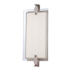 George Kovacs - Brushed Nickel LED 14.75-Inch Bath Vanity Fixture - - 30 Light LED Bath Light with Clear Flat Panel, Mitered White Inside Glass  - Bulb Included: Yes  - Install Position: Can be installed vertically or horizontally George Kovacs - P1120-084-L
