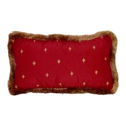 Drea' Custom Designs - Fleur de lis pillows - Fleur de lis drapes, from faux silk taffeta, invisible zipper closure, trimmed with gold brush trim.