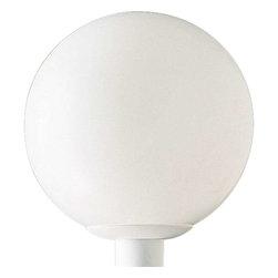 Progress Lighting - Progress Lighting P5426-60 Acrylic Globe 1 Light Outdoor Post Light In White - Progress Lighting P5426-60 Acrylic Globe 1 Light Outdoor Post Light In White