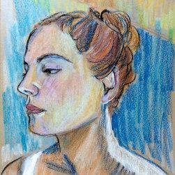 Self Portrait - Oil pastel self portrait.