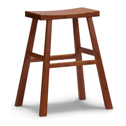 "Greenington - Greenington Erica Bar Height Stool in Classic Bamboo [Set of 2] - Bar Height Stool in Classic Bamboo belongs to Tulip Collection by Greenington With smooth, sleek lines and a simple elegance that will enhance any living space, your dining area will be redefined as ""chic"" with The Tulip Dining Collection."