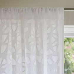 Serena & Lily - Cutwork Window Panel - We worked with artisans in India to cut this intricate design on cotton. Every inch of it was hand made, every detail meticulously applied. In pure white, it goes with anything. It's perfect in every room, from the living room to the baby's room.