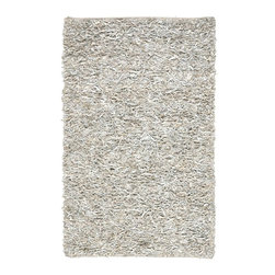 Safavieh - Shag Leather Shag 8'x10' Rectangle White Area Rug - The Leather Shag area rug Collection offers an affordable assortment of Shag stylings. Leather Shag features a blend of natural White color. Hand Knotted of Leather the Leather Shag Collection is an intriguing compliment to any decor.