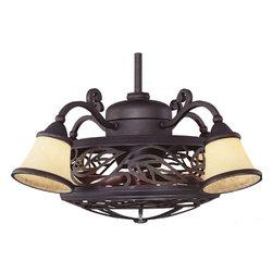 """Savoy - Savoy 14-260-Fd-16, Bay St. Louis Copper 21"""" Outdoor Ceiling Fan - MPN14-260-FD-16"""