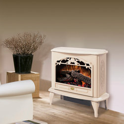 Dimplex - Dimplex Celeste Cream Purifire Electric Fireplace Stove with Remote Control - In lieu of a fireplace, an electric stove would be great in the coffee bar nook. I like the light cream color of this one.