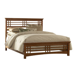 Fashion Bed - Fashion Bed Avery Panel Bed in Oak-Queen - Fashion Bed - Beds - B51A95 - Simplicity of materials and design are accented by the horizontal and vertical lines of the headboard and footboard of the Avery. The Mission style of the Avery Bed began its popularity at the turn of the 20th century. This classic style has stood the test of time. Finished in an Oak stain, it has a clear lacquer coat for extra protection of the wood and virtually maintenance free care. This piece of furniture will be a symbol of the character of times gone by and will be with you for years to come.