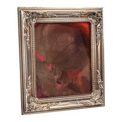 """Art Dallas, Incorporated - Art Dallas Antique Mirror - Purple Girl - An Art Dallas handcrafted """"Purple Girl"""" Antique Mirror framed with our Flash® molding."""