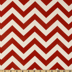 Christmas Table Runner, Bold Red Chevron by My Modern Home - Throw a table runner over a table or countertop to set the stage for your hot chocolate area. I like the chevron and peppermint stripe patterns from this Etsy shop.