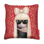 Modern Pillow Cover - You may not know it, but animals definitely have a sense of humor. They hide their poop in the funniest places and simply think it's hilarious when they scare the crap out of your new date. Apparently, they also do impersonations. This throw pillow features a slobberer-turned celebrity on one side of the cushion. It's about time you got a little face time with the stars.