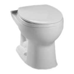 Toto - Toto C743E#11 Colonial White Drake E-Max Round Toilet Bowl Only - The Drake series gives a simple, sleek style to any bath with it's variety of options and finishes.
