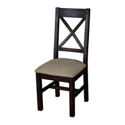 CDI International Furniture - Camrose Cross-Back Chair - Tobacco - Set of 2 Multicolor - CH2003TB - Shop for Dining Chairs from Hayneedle.com! The Camrose Cross-Back Chair - Tobacco - Set of 2 is handmade using solid recycled and reclaimed woods in an eco-friendly tobacco finish. Its simple lines are accented by an X back design and heavy distressing. Beige linen upholstered seats add comfort and rustic style. Set of two chairs.About CDI InternationalCDI International is based in Montreal Canada's fashion capital. They adore home furnishings that embody high fashion and are made of the finest materials. CDI International is one of the most reputable home furnishing suppliers in the market. They strive to provide customers with well-designed quality products at a fair price. CDI International prides itself on staying on the cutting edge of design trends. Their designers travel the world to see first-hand the materials and trends around the globe.Not just impeccably crafted and stylish home goods and furniture CDI International also strives to be environmentally responsible. They work to reduce their ecological footprint. Their goal is to offer designer sofas with a simple manufacturing process that is also eco-friendly. They encourage their factories and transportation services to maintain the highest standards of green environmental living.