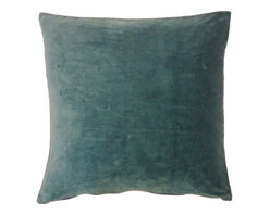 JITI - Jade Velvet Pillow - Who can resist a classic? With this velvet throw pillow, available in oodles of sizes and colors, you won't have to! Ideal for mixing and layering, go ahead and experiment. Change your look as often as you can move this one here, and that one there. Anywhere it lands, it's a perfect fit.