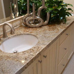 Golden Crystal Granite Countertops 3cm - Granite Bath Countertop