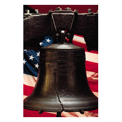 Custom Photo Factory - Liberty Bell with American Flag Canvas Wall Art - Liberty Bell with American Flag  Size: 20 Inches x 30 Inches . Ready to Hang on 1.5 Inch Thick Wooden Frame. 30 Day Money Back Guarantee. Made in America-Los Angeles, CA. High Quality, Archival Museum Grade Canvas. Will last 150 Plus Years Without Fading. High quality canvas art print using archival inks and museum grade canvas. Archival quality canvas print will last over 150 years without fading. Canvas reproduction comes in different sizes. Gallery-wrapped style: the entire print is wrapped around 1.5 inch thick wooden frame. We use the highest quality pine wood available. By purchasing this canvas art photo, you agree it's for personal use only and it's not for republication, re-transmission, reproduction or other use.