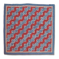 Patch Quilts - Red Log Cabin Duvet Cover Twin 70 x 88 Inch - Beautifully crafted cover with intricate patchwork  - Bedding ensemble from Patch Magic,  the name for the finest quality quilts and accessories  - Machine washable  - Line or Flat dry only Patch Quilts - DCTRLC