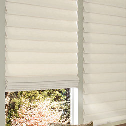 Custom Modern Roman Shades - Vignette® Cordless Shades - Hunter Douglas Vignette® Cordless Shades are great for any space. Bring beauty & elegance into your home today with these wonderful roman shades.