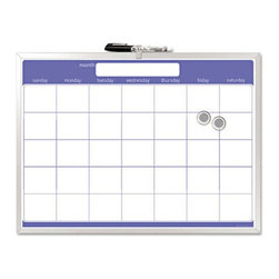 The Board Dudes - The Board Dudes 23 x 17 in. Monthly Planner Dry Erase Board Multicolor - BDU4407 - Shop for Magnetic Boards and Supplies from Hayneedle.com! Preplan every month in advance by using The Board Dudes 23 x 17 in. Monthly Planner Dry Erase Board. Its magnetic dry erase surface is resistant to ghosting and scratching while a high-quality aluminum frame offers it strength and durability. A one-stop solution to your planning and management needs this planner is a must-have. Clean graphics give it a graceful appearance and elevate its style-quotient. To add to its features it includes a dry erase marker as well as cubicle mounting strips.About United StationersDedicated to making life in the office more organized efficient and easier United Stationers offers a wide variety of storage and organizational solutions for any business setting. With premium products specifically designed with the modern office in mind we're certain you will find the solution you are looking for.From rolling file carts to stationary wall files every product in the United Stations line is designed with one simple goal: to improve office efficiency. In turn you will find increased productivity happier more organized employees and an office setting that simply runs better with the ultimate goal of increasing bottom line profits.