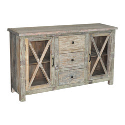 Kosas Collections - Snipe 3-drawer / 2-door Sideboard - Feature your favorite memories or store dinnerware on this rustic and handsome sideboard. Perfect in any room, this reclaimed wood sideboard is poised to give your home an idyllic feel.