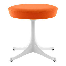 Herman Miller - Nelson Pedestal Stool - Put yourself on a pedestal — stool that is! An original design from the mid-1950s by the iconic George Nelson, this elegantly playful stool works just as well now as it did back then. Its compact footprint allows you to tuck it anywhere, like the entryway or walk-in closet. And, it can be easily called upon when extra seating is needed.