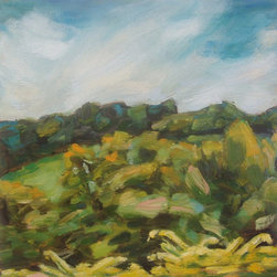 """""""Bunker, Painting"""" - Vermont plein air oil painting on primed wood panel"""