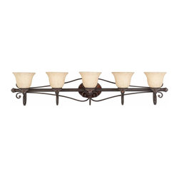 Triarch International - Bath Vanity in Harvest Bronze Finish - 5 Light Bath Vanity. 5- 100 watt medium base bulb.  Not included. UL Approved. 48 in. L x 8 in. W x 10 in. H (18 lbs)