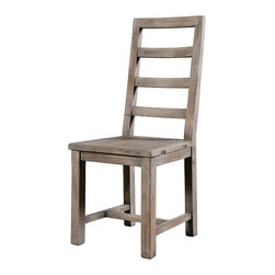 Parsons Dining Chair-Sundried Ash - Elegant, Eco-Friendly and Reclaimed. This ladder-back chair is individually hand-crafted from salvaged and recycled hardwoods such as fir and spruce and finished with up to 18 hand-finished color applications.