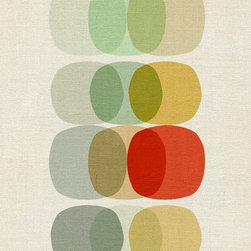 Keep It Simple Circle - Art Reproduction Giclee Print - Keep It Simple Circle...a clean design with a clean name - part of our ongoing fascination and love for pattern, design and colour.