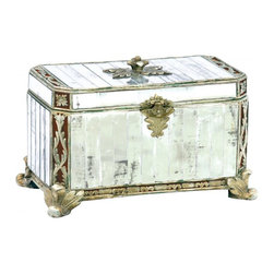 Sterling Industries - Composite Panelled Mirror Keep Sake Box - Composite Panelled Mirror Keep Sake Box