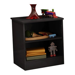 South Shore - South Shore Libra Kids Nightstand in Pure Black - South Shore - Kids Night Stands - 3070059 - The Libra Nightstand is constructed from laminated engineered wood in a pure black finish. It features an open storage compartment with one adjustable shelf and rounded corners for maximum safety. With a contemporary style and simple lines the practical and functional Libra Nightstand is the perfect companion along side your kid's bed.Features: