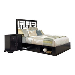 Broyhill - Broyhill Perspectives Lattice Storage Bed 4 Pc Bedroom Set in Graphite - Broyhill - Bedroom Sets - 44444PcLatticeLowStorageBedSet - Broyhill Perspectives 9 Drawer Dresser in Graphite Finish (included quantity: 1) About This Product: