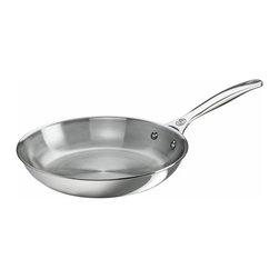 "Le Creuset - Le Creuset 8"" Fry Pan - Stainless Steel - Featuring an ergonomic, stay-cool handle for easy maneuvering, the Fry Pan's tri-ply construction ensures even heating and perfect results every time. Its proprietary metal blend gives it a radiant luster engineered to last for years of use."