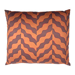 Designer Fluff - Desert Sand Pillow, 12x20 - Thirsty for some color and modern style? Drink in the earthy purple, red and orange bands of this pillow reminiscent of the Arizona desert. Made of 100 percent cotton with a hidden zipper closure, each comes in your choice of sizes, inserts and edges.