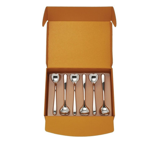 """Alessi - Alessi """"Big Love"""" Ice Cream Spoon, Set of 6 - This set is composed of 6 ice cream spoons in stainless steel."""