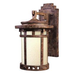 Joshua Marshal - One Light Sienna Mocha Glass Wall Lantern - One Light Sienna Mocha Glass Wall Lantern