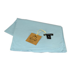 "Pur by Pur Cashmere - Signature Blend Throw Baby Blue 36""x36"" - Bamboo baby blanket with stitching on edges. 100%  baby bamboo.  Dry clean only. Inner mongolia."