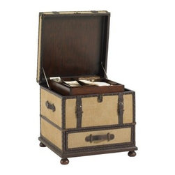 Lexington Home Brands Fieldale Lodge Gunnison Trunk Table - With the feeling of a classic antique and storage to boot the Lexington Home Fieldale Lodge Gunnison Trunk Table is a favorite for any space. Wood leather and nailhead trim make this accent table a welcome addition to the living room or bedroom. Rustic classic and traditional – a true classic in any space. About Lexington Home Brands Founded in 1903 in High Point NC; Lexington Home Brands has become a globally known manufacturer and marketer of unique home furnishings. They are an industry leader in design style and quality products. Their product line consists of upholstered and hardwood furniture under recognized brands such as Lexington Tommy Bahama Sligh and Henry Link Trading Co. Lexington Home Brand's intentions and aspirations are to create exclusive designs and styles that accommodate the traditional contemporary casual and formal decors of their customers' homes.
