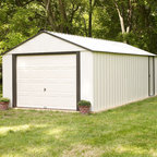Arrow Sheds - Arrow Vinyl Murryhill 12 x 17-foot Storage Building - This storage space features electro galvanized and vinyl coated steel for increased corrosion resistance and long lasting vinyl-coating to provide a five times thicker finish than standard steel buildings. The building is constructed to 12 x 17 feet.