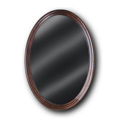 "JSG Oceana - JSG Oceana Semi-Circle Mirror in Espresso - Semi-Circle Mirror in Espresso belongs to  Collection by JSG Oceana The Traditional design of JSG Oceana's Semi-Circle mirror makes it ideal to be paired with it's mate, the Semi-Circle Vanity, and it is also perfect to be used as a single display mirror.  The Semi-Circle Mirror measures 24""W x 34""H x 1.4""D and has a beveled glass mirror for an elegant look.  Mirror (1)"