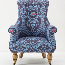 Astrid Chair, Nile Ikat - There are moments when you need to step away from your computer, and having a big reading chair in the room makes for a good place to relocate during those breaks. The ikat print on this Anthropologie chair is gorgeous.