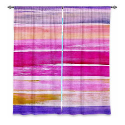 """DiaNoche Designs - Window Curtains Lined by Iris Lehnhardt Colour Play VI - DiaNoche Designs works with artists from around the world to print their stunning works to many unique home decor items.  Purchasing window curtains just got easier and better! Create a designer look to any of your living spaces with our decorative and unique """"Lined Window Curtains."""" Perfect for the living room, dining room or bedroom, these artistic curtains are an easy and inexpensive way to add color and style when decorating your home.  This is a woven poly material that filters outside light and creates a privacy barrier.  Each package includes two easy-to-hang, 3 inch diameter pole-pocket curtain panels.  The width listed is the total measurement of the two panels.  Curtain rod sold separately. Easy care, machine wash cold, tumble dry low, iron low if needed.  Printed in the USA."""