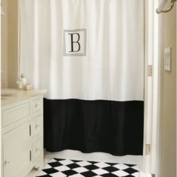 Monogrammed Classic Shower Curtain - This is one of my favorites. I'm loving the black and white and the simplicity of the wide black band at the bottom. Plus, anything monogrammed is cool in my book. This would look good in a traditional-style bathroom.